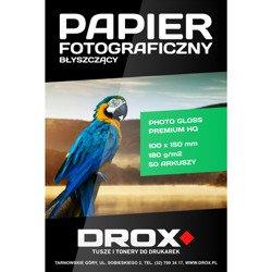 Papier fotograficzny błyszczący 10x15cm 180g/m2 50 arkuszy