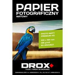 Papier fotograficzny matowy 10x15cm 128g/m2 50 arkuszy